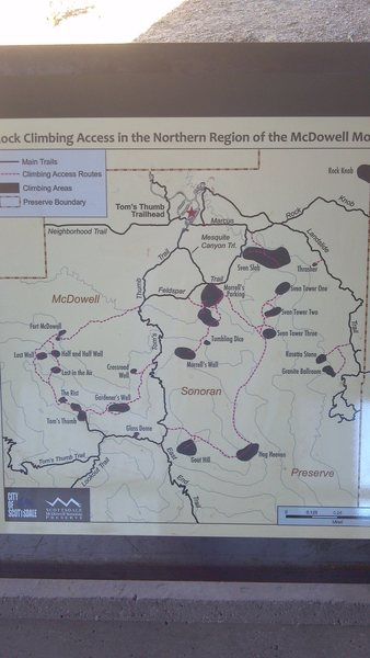 Pic of the new park climbing map.