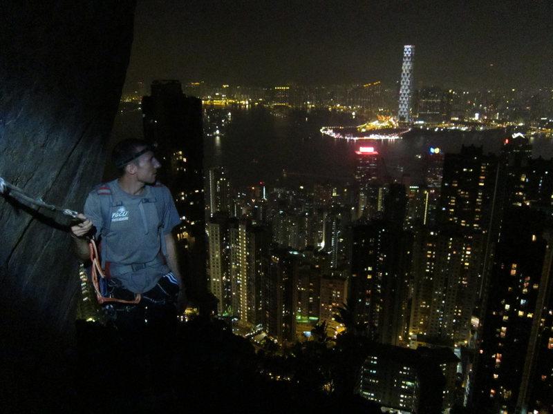 Rock Climbing Photo: climbing partner chandler on central crags, hong k...