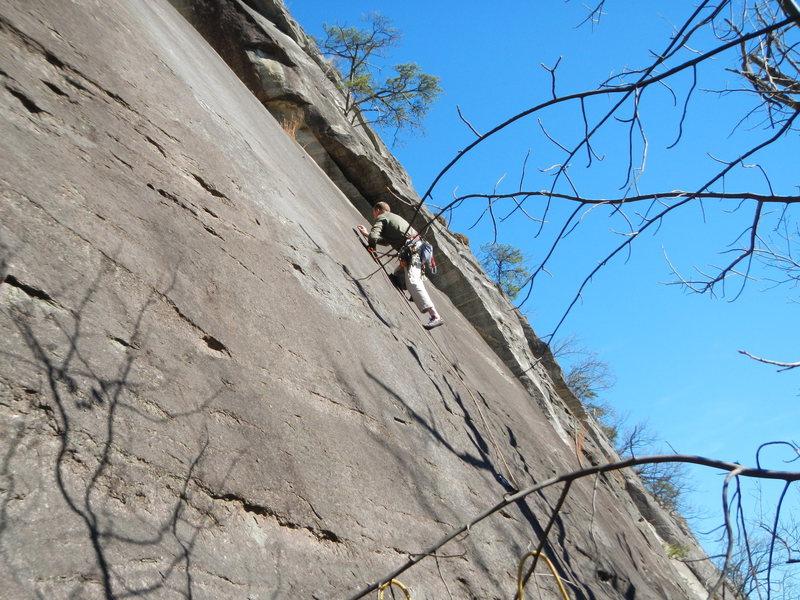 Climber on Pull the Plug