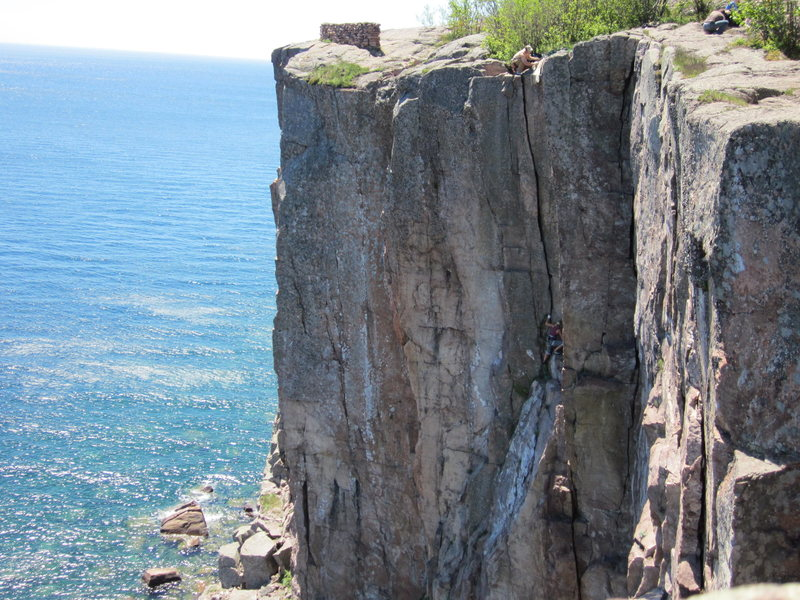 Rock Climbing Photo: The Phantom Crack. Beautiful summer day