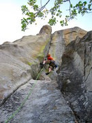 Rock Climbing Photo: Beef Jello, 5.10d in City of Rocks, ID.