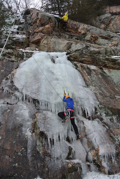 Rock Climbing Photo: Mike below and Paul above.  Both enjoying winterti...