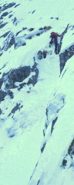 Rock Climbing Photo: simu soloing moderate alpine