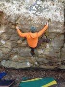 Rock Climbing Photo: Kris on Full Circle