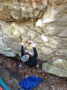 Rock Climbing Photo: Kris sending The Hobbit aka Diamond in the Rough