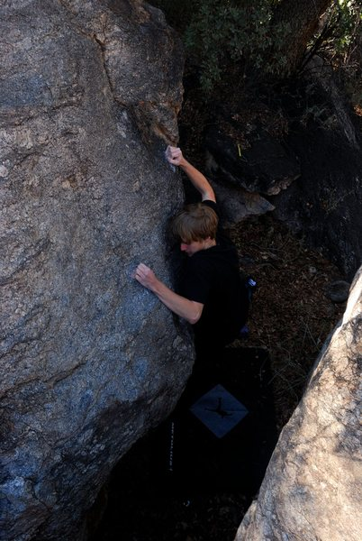 Rock Climbing Photo: David's first ascent of the lizard
