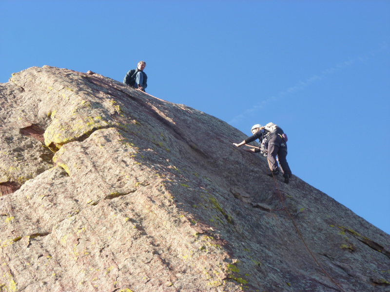 Rock Climbing Photo: Mark and Cindy on the last pitch.