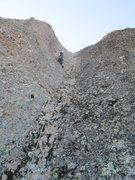Rock Climbing Photo: dave leading the 800 Club