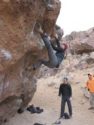 Rock Climbing Photo: Cody Sims; warming up on everyone's project.  The ...