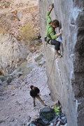 "Rock Climbing Photo: Tom on ""Phasers on Stun"""