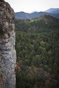 Rock Climbing Photo: Pere climbs in Montgrony - Catalunya, Spain