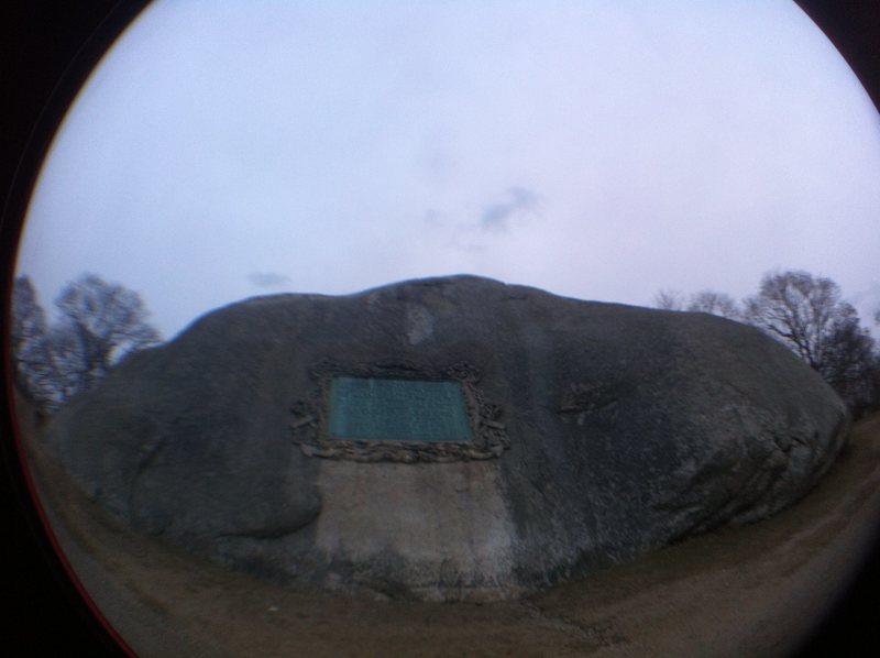 Stage Fort Park crag.