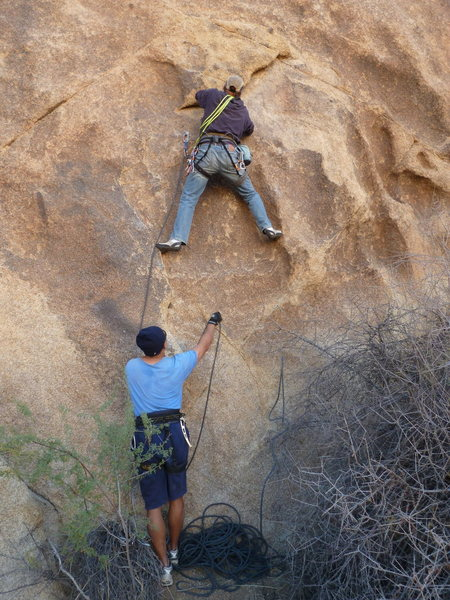 Rock Climbing Photo: Here's the picture of the huge flake; pull down no...