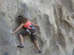 Rock Climbing Photo: S.P. on the Samurai Sword