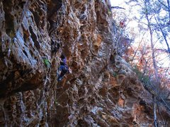"""Rock Climbing Photo: Getting """"Far From God"""" at the RRG!"""