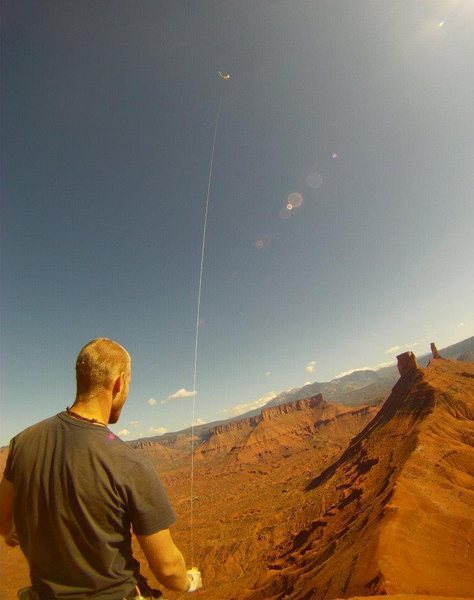 Rock Climbing Photo: great day for a kite