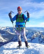 Rock Climbing Photo: Euro trash on a alpine winter summit in the Cascad...