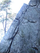 Rock Climbing Photo: The right leaner on the opposite side of that 5.3 ...