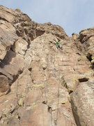 """Rock Climbing Photo: About halfway up """"Ugly Stick""""."""