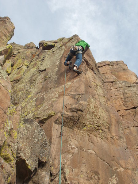 Rock Climbing Photo: Great route, but it does not get climbed very ofte...