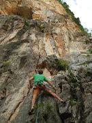 Rock Climbing Photo: Karsten Delap starting up Monsoon 5.10b