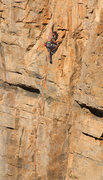 Rock Climbing Photo: Lance Hadfield midway on an Unfinished route