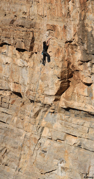 Rock Climbing Photo: Ben Hanna midway on Bane (5.10)