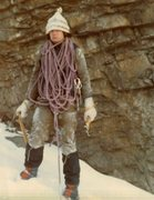 Rock Climbing Photo: Jan 1973 Canada, -30C
