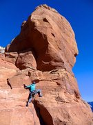 Rock Climbing Photo: Starting up pitch 4 en route to the top. January 2...