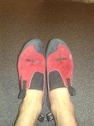 Rock Climbing Photo: new shoe's hurt.