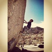 Rock Climbing Photo: Eden working The First Black Robot