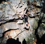 Rock Climbing Photo: Thats me on two of my favorite routes in Sandrock ...