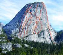 Rock Climbing Photo: All routes shown left to right in order as seen in...