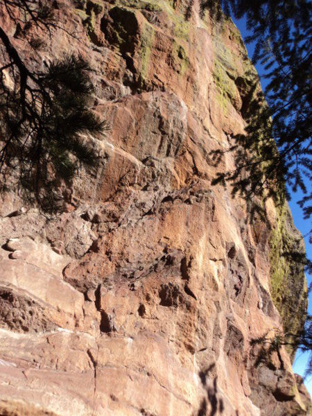 Some steep rock with a bit of potential on the south side.