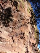 Rock Climbing Photo: Some steep rock with a bit of potential on the sou...