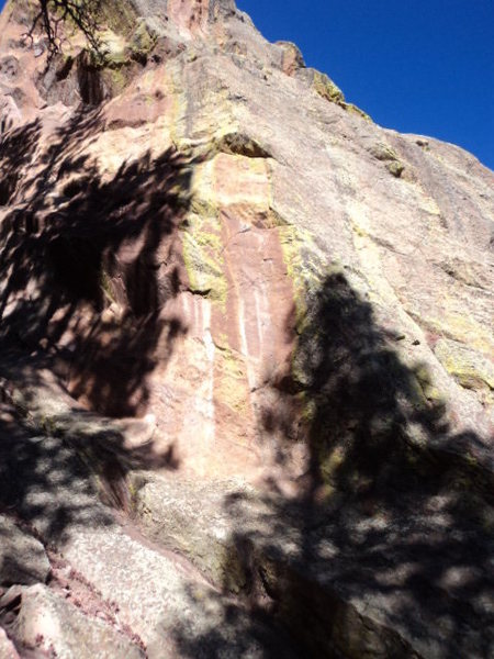 West Face, 12, and West Face Right, 12.  Two bolt & gear routes that are lightly protected.