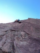 Rock Climbing Photo: Deb scoots up this fun, brief problem.