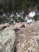 Rock Climbing Photo: Mike Elges & Tony Bubb on the South Arete.