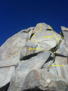 Rock Climbing Photo: Start on South Crack, head left at a glue in.