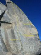 Rock Climbing Photo: Bolts not marked.
