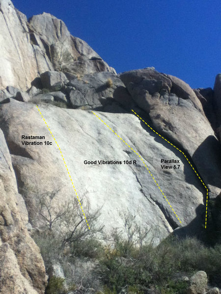 Rock Climbing Photo: Short wall below main Pinnacle on West side.
