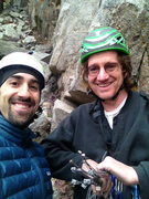 Rock Climbing Photo: Me and Ross at Happy Hour Crag 1/23/13 getting rea...