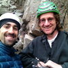 Me and Ross at Happy Hour Crag 1/23/13 getting ready for Dementia.