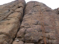 Rock Climbing Photo: A close up of the route, where the rope is hanging...