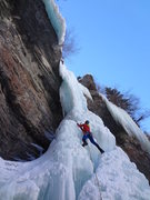 Rock Climbing Photo: Jordon Griffler starting up The Rigid Designator -...