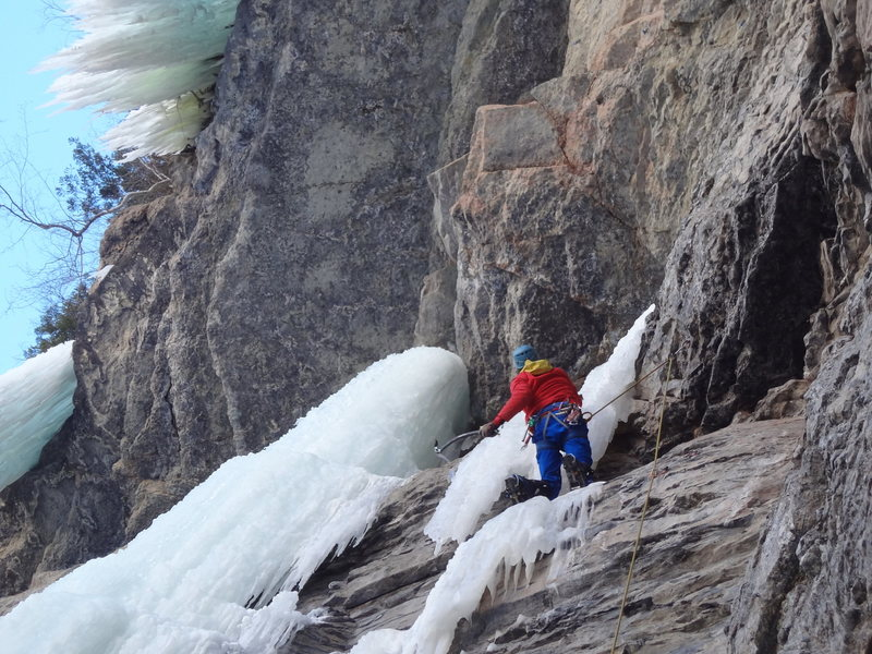 Rock Climbing Photo: Jordon Griffler starting up Cupcake Corner - Vail ...