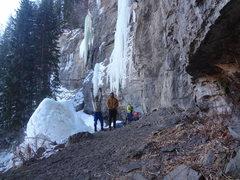 Rock Climbing Photo: Jordon and I - Vail Colorado.  January 21st 2013.