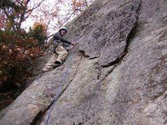 Rock Climbing Photo: On the FA of Willie's Danish Prince.