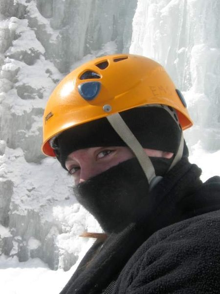 Ninja Ice Climber Autumn at <em>Pitchoff Right</em>.
