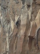 Rock Climbing Photo: The last bust a move.  Climb the arete to the fini...